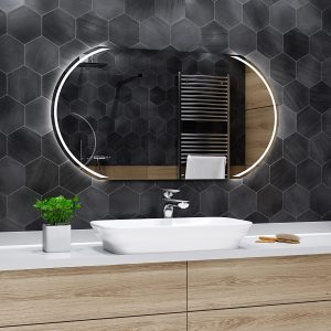 Specchio Da Bagno A Led Baltimore Bathroom Mirror With Led Custom Mirror Choose Your Accessories